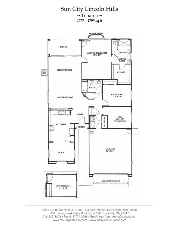 Sun City Lincoln Hills Floor Plans